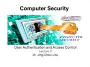 CPS3498 - Computer Security  - Lec 3 - User Authentication and Access