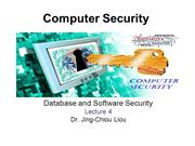 CPS3498 - Computer Security  - Lec 4 - Database and Software Security