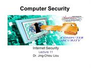 CPS3498 - Computer Security  - Lec 11 - Internet Security
