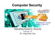 CPS3498 - Computer Security  - Lec 12 - Operating Systems  Security