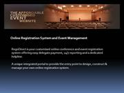 Online Registration System and Event Management