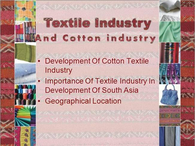 what is cotton textile industry