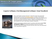 Logistic Software | Fleet Management Software: How They Work