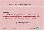 GMP QUALITY MANAGEMENT