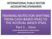 IPSAS TRAINING PART I - INTRODUCTION