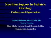 Nutrition Support in Pediatric Oncology