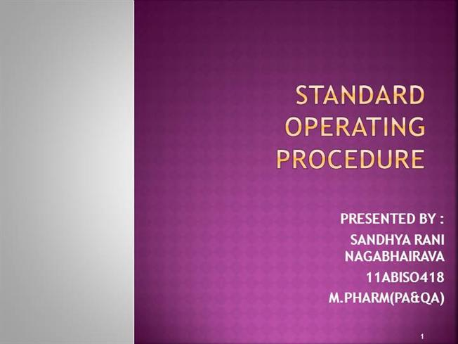 standard operating procedure ppt 3