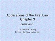 Applications of the First Law - Chpt. 3