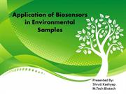 Applications of biosensors in environmental samples