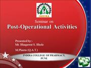 Post operational activities
