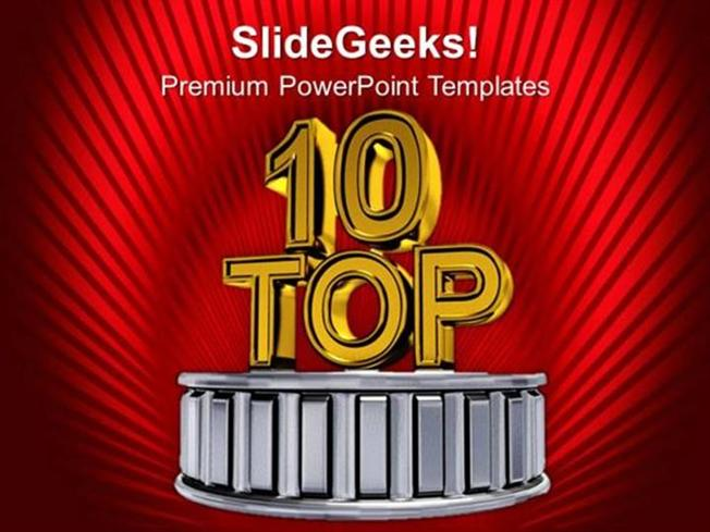 business top ten business award winners ppt template-powerpoint, Modern powerpoint