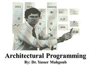 2011-QU-SP-Architectural Programming Lecture