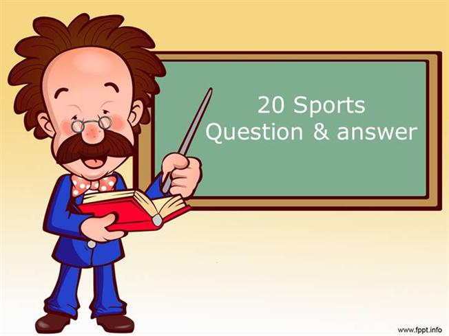 20 Sports Question Answer authorSTREAM – Trivia Powerpoint Template