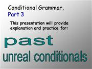 conditional grammar 3
