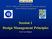 Session 1 - Design Management Principles