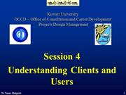 Session 4 - Understanding Clients and Users