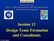 Session 12 - Design Team Formation