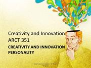 3Creativity and Innovation Lecture - Creativity and Innovation Persona