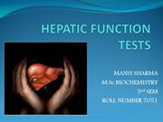 HEPATIC FUNCTION TESTS