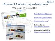 Business information: key web resources