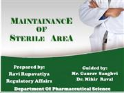 Maintenance of sterile area
