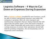 Logistics Software - 4 Ways to Cut Down on Expenses During Expansion
