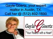 Realtor with a Heart- Gayla Goertz, Austin, TX