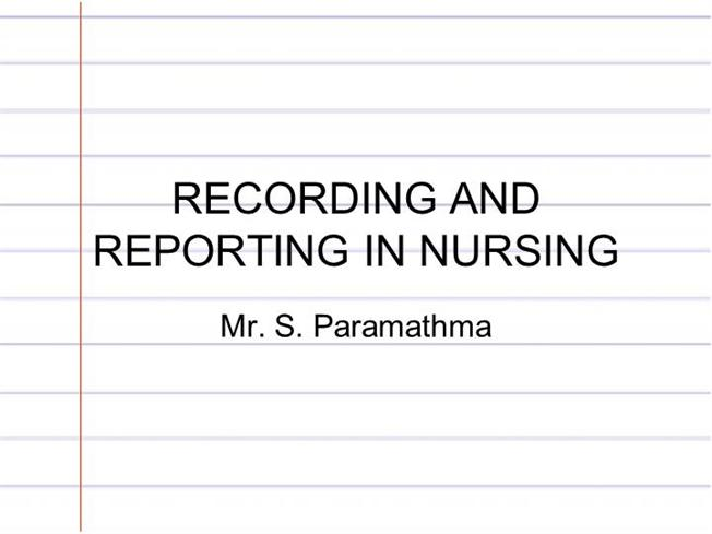 written reports in nursing Vol: 97, issue: 38, page no: 34 jacqueline wheeler, dms, msc, rgn, is a lecturer at buckinghamshire chilterns university college.