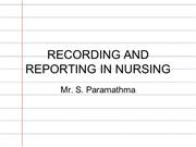 Recording and reporting in nursing