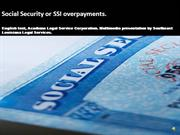 Social Security and SSI Overpayments
