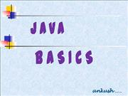 Java Basics