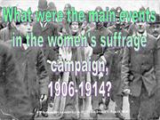 main suffrage events blog