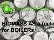 Crown Capital Eco Management - BIOMASS AS a fuel for BOILERs