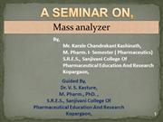 Mass analyzer (CHANDU)