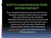 How to Claim Insurance from Moving Company