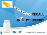 Product Recall_A FDA Perspective