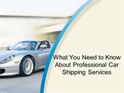 What You Need to Know About Professional Car Shipping Services