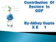 Contribution of sectors in GDP[Abhey]