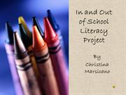 In and Out of School Literacy project
