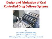 Oral Controlled Drug Delivery Systems