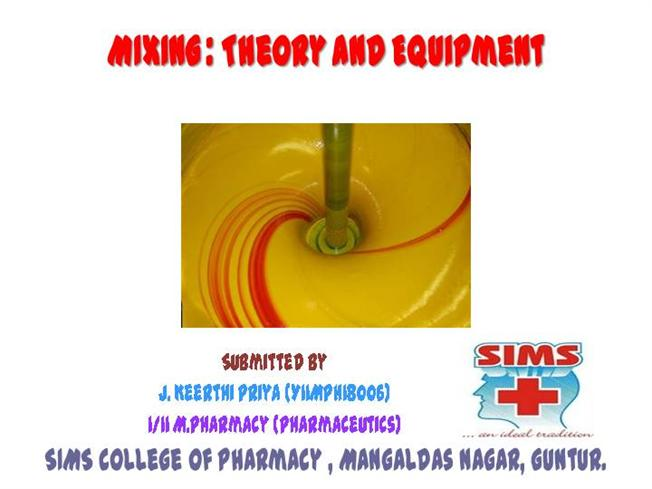 Mixing : Theory And Equipment |authorSTREAM