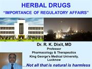 Importance of Pharmacovigilance of Herbal Products