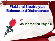 fluid and electrolyte balances and imbalances