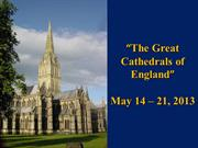 The Great Cathedrals of England