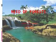 Need of forests