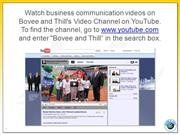 Business Communication Instructor Videos on YouTube