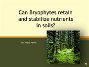 Can Bryophytes retain