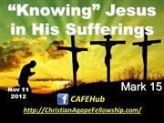 'Knowing' Jesus in His Sufferings