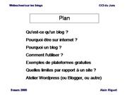 Webschool du Jura : les blogs