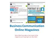 Directory of Business Communication Online Magazine